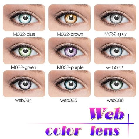 color contacts various designs magic color rainbow contact lenses