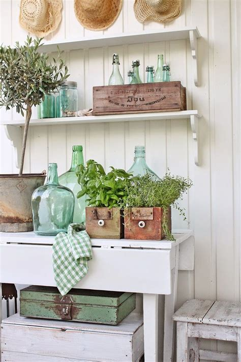 Vintage Farmhouse Decor by Vintage Style Decorating With Demijohns Bhg Style Spotters