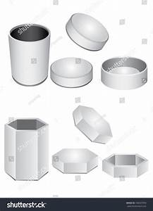 3d White Cylinder, Box, Packaging Design Stock Vector ...