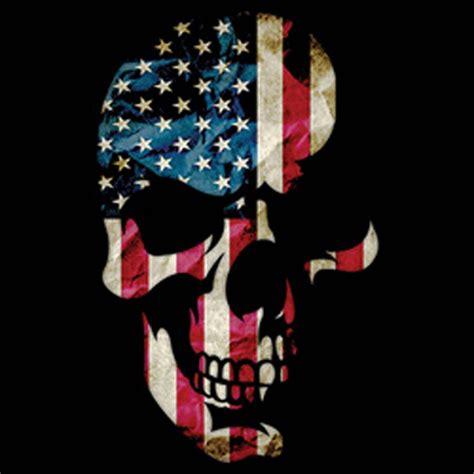 Distressed American Flag Wallpaper Skull Americana