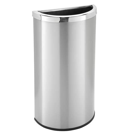 stainless steel containers 8 gallon stainless steel half garbage can trash