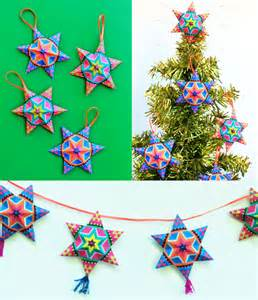 4 fun and easy to make mexican paper craft decorations star template paper stars and mexicans