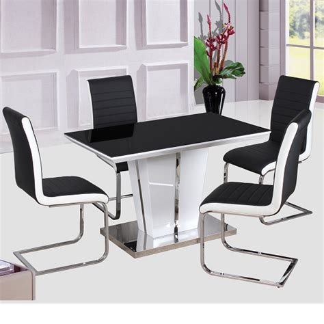 high gloss dining table and chairs marceladick
