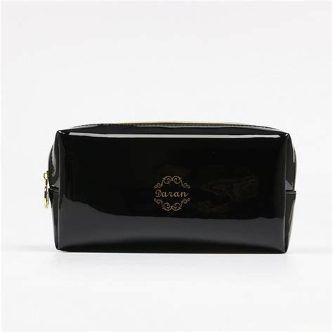 quality pu leather zipper pillow shaped brand cosmetic bag make up toiletry bag cosmetic pouch