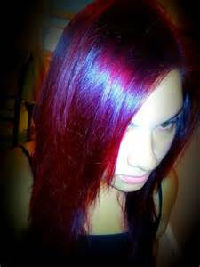 Red and Magenta Hair Color