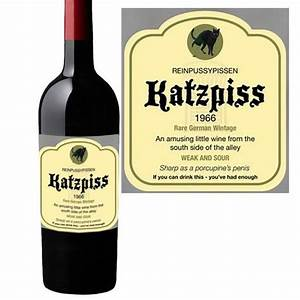 funny wine bottle labels katzpiss find me a gift With hilarious wine labels