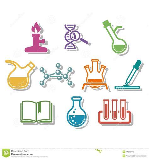 science  chemistry icon set stock vector