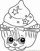 Shopkins Coloring Cake Patty Pages Coloringpages101 Pdf sketch template