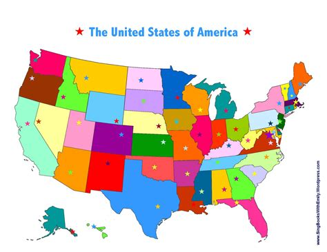 united states colors united states state capitals song a singable picture book