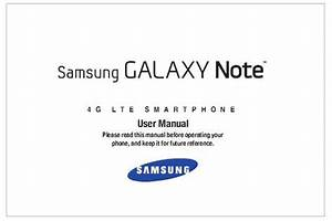 Samsung Galaxy Note At U0026t Sgh I717 Manual User Guide