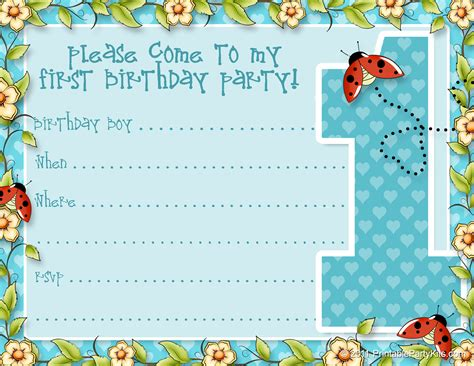 printable st birthday party announcements printable