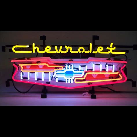 Chevrolet Neon Sign by Neon Sign Chevrolet Grill
