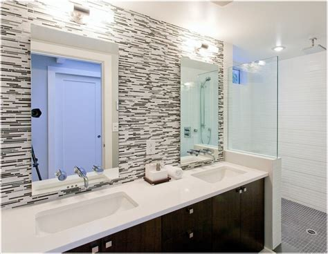 How To Install Glass Tile Backsplash In Bathroom by Pin By Day On Lovely Loo Bathroom Colors
