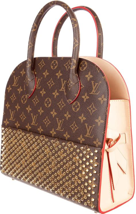 louis vuitton shopping bag christian louboutin monogram