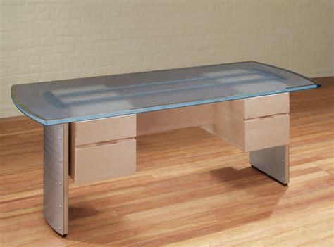 Glass Top Desk Modern Glass Top Desk Stoneline Designs