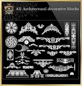 Art Nouveau Interior Design Elements All Architectural Decorative Blocks V 3 Cad Design