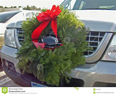 christmas spirit stock image image  wreath christmas
