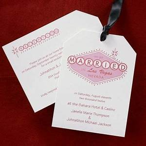 this two piece vegas themed invitation is printed with With wedding invitations in las vegas nv