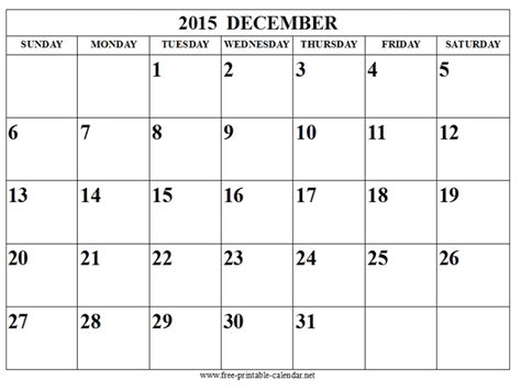 december calendar time date