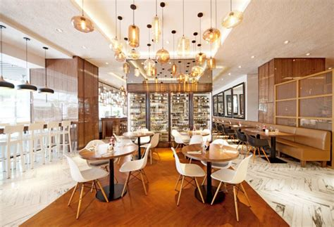 bright  spacious restaurant  designphase dba interiorzine