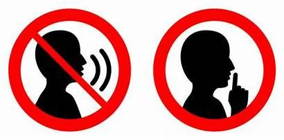 Talking Quiet Sign Please Shhh Icon Clip