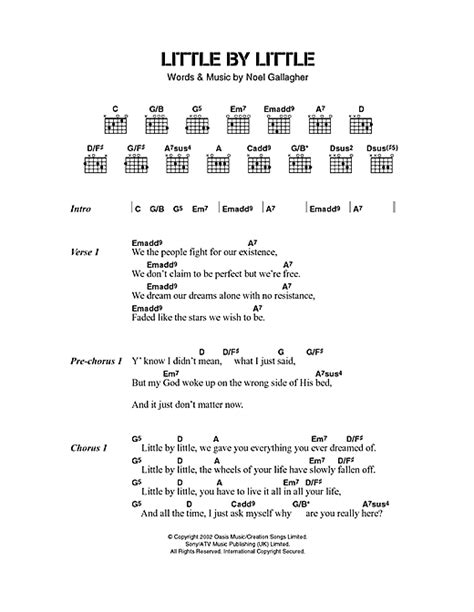 Wonderwall by oasis guitar chords