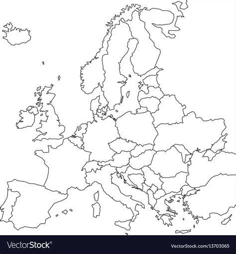 search results outline  europe map printable