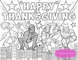 Thanksgiving Coloring Pages Superhero Birthday Printables Sheets Printable Happy Activity Fun Kidspartyworks Parties Avengers Heros Hulk Ic Spiderman Paper Iron sketch template