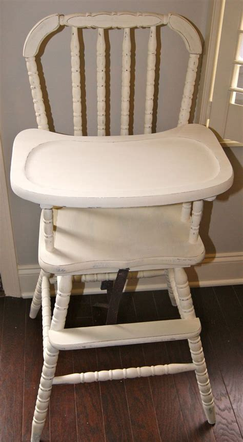 Lind High Chair White by Shabby Chic Vintage High Chair Fresh Furniture Painting