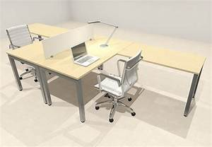 Two, Person, Modern, Divider, Office, Workstation, Desk, Set, Of-con-fp2