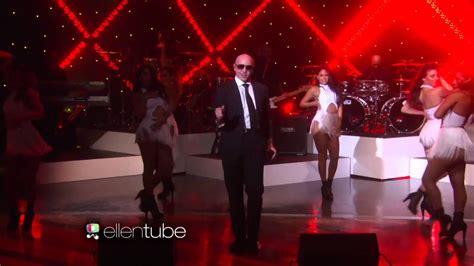 pitbull fireball   ellen show youtube