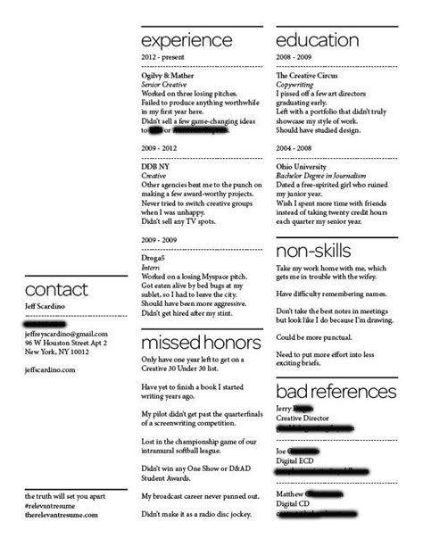 a resume of failures stands out to employers business