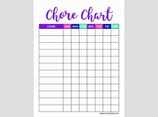 Chore Chart Template For 4 Year Old Archives ScellcCo
