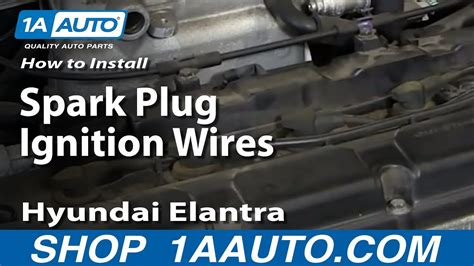 install replace spark plug ignition wires