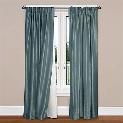 bed bath and beyond blackout drapes smartblock rod pocket insulating blackout curtain liner