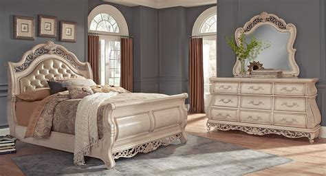 king bed platform silver tufted leatherette 9pc king size modern bedroom set