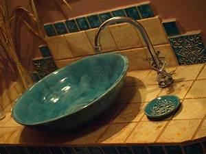 Bemalte Keramik Waschbecken : handgefertigt waschbecken ~ Markanthonyermac.com Haus und Dekorationen