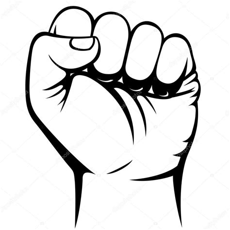 Clenched Fist Coloring Pages