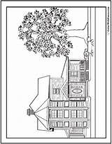 Dog Coloring Pages Houses Printable Bones Breeds Colorwithfuzzy sketch template