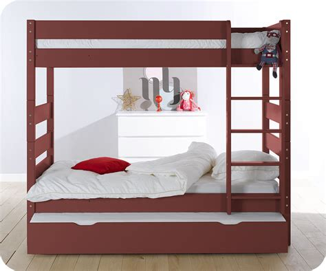 pack lit superpos 233 90x190 cm avec 2 matelas