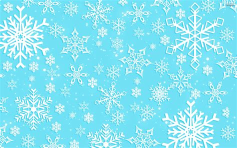 Blue Snowflake Background Clipart by Snowflakes Wallpapers Wallpaper Cave