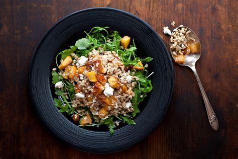 farro salad  roasted rutabaga ricotta salata