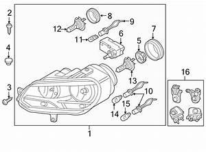 Volkswagen Eos Headlight Assembly  2012 O