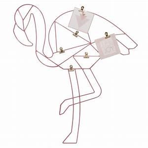 Pele Mele Metal : p le m le photo en m tal rose 47 x 53 cm flamingo maisons du monde ~ Teatrodelosmanantiales.com Idées de Décoration