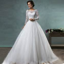 mariage princesse wedding dresses 2016 white sleeve lcae princess wedding gowns bridal gowns robe de