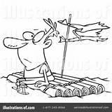 Raft Clipart Illustration Royalty Leishman Rf Toonaday Ron Sample sketch template