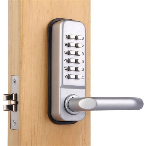 mechanical password entry door locks button lock castle