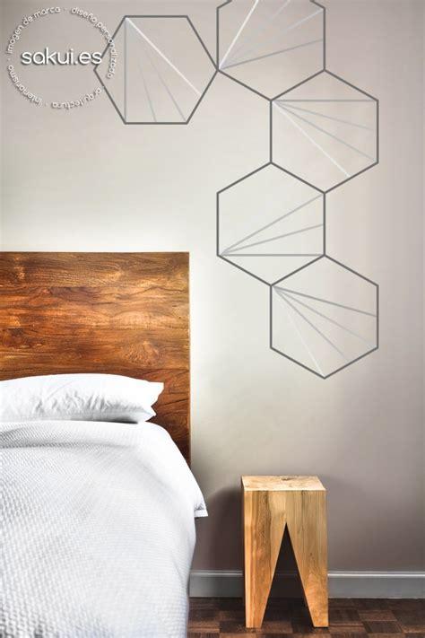 Inspiración Deco: paredes geométricas mural de hexágonos