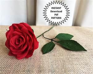 Paper Craft Pdf Pattern DIY Paper Roses Crepe Paper Roses