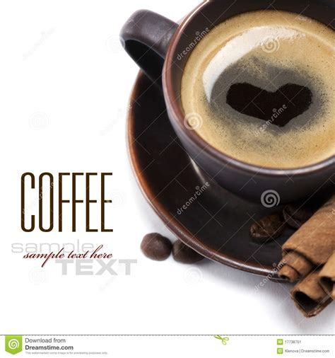 Cup Of Coffee With Heart Stock Image   Image: 17738751